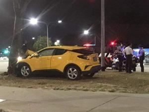 Car Hit Tree